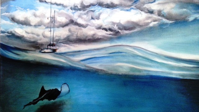 Canvas Oils and Crayon
